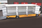 Evden eve taşımalar için özel yapım kamyon gövdesi